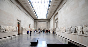 The British Museum - The Duveen Gallery. The British Museum based in London's Bloomsbury was established in 1753 and has more than 7 million objects of antiquity Royalty Free Stock Photos