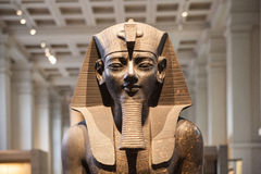 British museum Egyptian sculpture hall, Pharaoh Rameses Royalty Free Stock Image