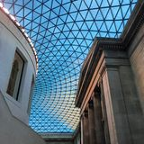 The British museum. At the entrance hall of the British Museum Royalty Free Stock Photos