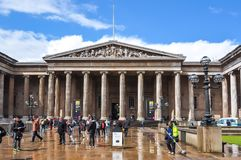 British museum entrance, London, UK royalty free stock photography