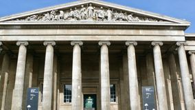 The British Museum. The front of the British Museum, London, England Royalty Free Stock Photos