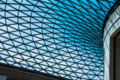 The British Museum glass ceiling.London, UK Royalty Free Stock Photo