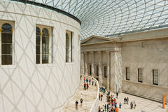 British Museum Great Court. With part of the reading room Stock Photo