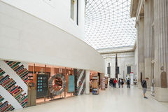 British Museum Great Court interior, book shop in London Stock Photography