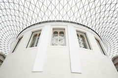 British Museum Great Court interior, glass ceiling in London Stock Photography