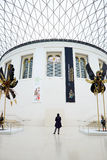 British Museum Great Court interior, one person, London Royalty Free Stock Photo