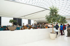 British Museum Great Court interior, restaurant with people in London Royalty Free Stock Photo