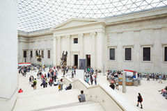British Museum Great Court interior with stairway in London Royalty Free Stock Photo