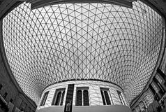 British Museum - het Grote Hof Royalty-vrije Stock Afbeeldingen