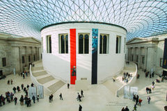 British Museum i London Royaltyfria Foton