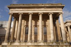 British Museum. Image of exterior of the British Museum showing ionic columns in London, England royalty free stock images