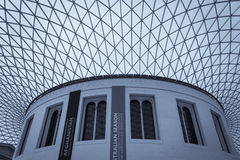 British Museum-Innenraum Stockfotos