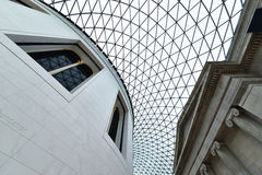 British Museum inre, London Arkivbilder