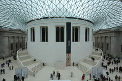 The british museum interior Royalty Free Stock Images