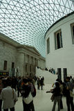 British Museum interior crowding Royalty Free Stock Photography