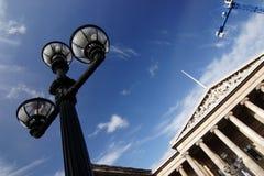 British Museum, lamp and crane Stock Photo