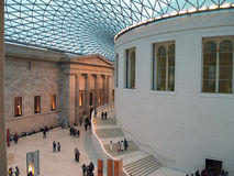 British Museum Library. Outside British Museum Library, Modern and classic architecture Royalty Free Stock Photo
