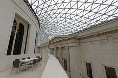 British Museum Library. Image of ceiling and seating area of the British Museum royalty free stock photography