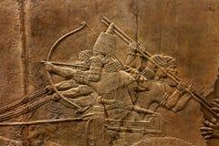 British Museum Lion Hunt Relief stock afbeelding