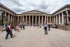 British Museum Londen Engeland Royalty-vrije Stock Afbeeldingen