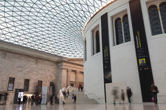British museum in London. LONDON, UNITED KINGDOM - CIRCA SEPTEMBER 2012 - View of the Great Court of the British Museum in London. The Court is covered by a Royalty Free Stock Photography