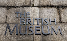 British Museum in London Lizenzfreie Stockfotografie