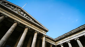The British Museum, London. Abstract angle on the façade of the British Museum, London Royalty Free Stock Photos