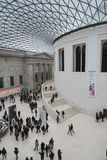 The British Museum London. The Great court of The British Museum. The centre of the museum was redesigned by Norman Foster in 2000 into this glass covered Royalty Free Stock Photos