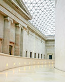 The British Museum, London. A rare view of the interior of the Sir Norman Foster designed British Museum with no people or tourists in view Stock Images