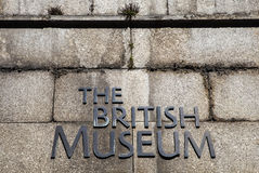 The British Museum in London Stock Photo