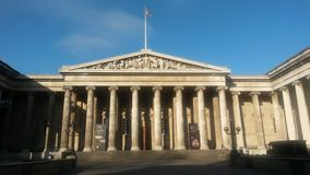 British Museum. Main facade of British Museum Royalty Free Stock Image