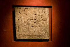 British Museum_Mayan tablet Stock Photography