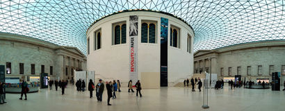 British museum (Panorama). A shot of great hall in British museum Stock Image