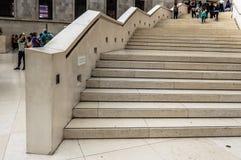 British Museum stairs Stock Images