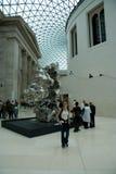 British Museum wnętrza tłumy Zdjęcie Royalty Free