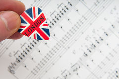 British music background Royalty Free Stock Photos