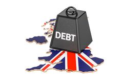 British national debt or budget deficit, financial crisis concep Royalty Free Stock Photo