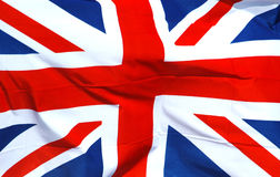 British National Flag. A British national flag royalty free stock photos