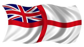 British Naval Ensign. The British Royal Naval White Ensign stock photo