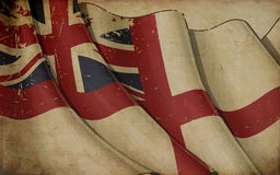 British Naval Flag Old Paper Background Stock Photos