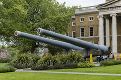 British 15 Naval Guns. Imperial War Museum. Royalty Free Stock Photos