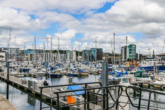 The British naval port of Plymouth Stock Image