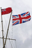 British Navy flags Stock Photography