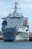 A British Navy ship. Stock Image