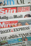 British Daily Newspapers royalty free stock photography