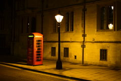 British Night. Silent and typical british nightscene in Oxford Stock Photography