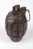 British No36 hand grenade. WWII British No36 Mills fragmentation defensive hand grenade Royalty Free Stock Photography
