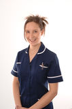 A British Nurse. In a blue uniform Stock Photos