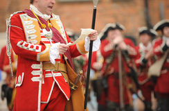 British officer Royalty Free Stock Images