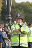 british oficera policja Obraz Stock